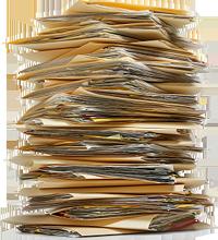 Document pile...